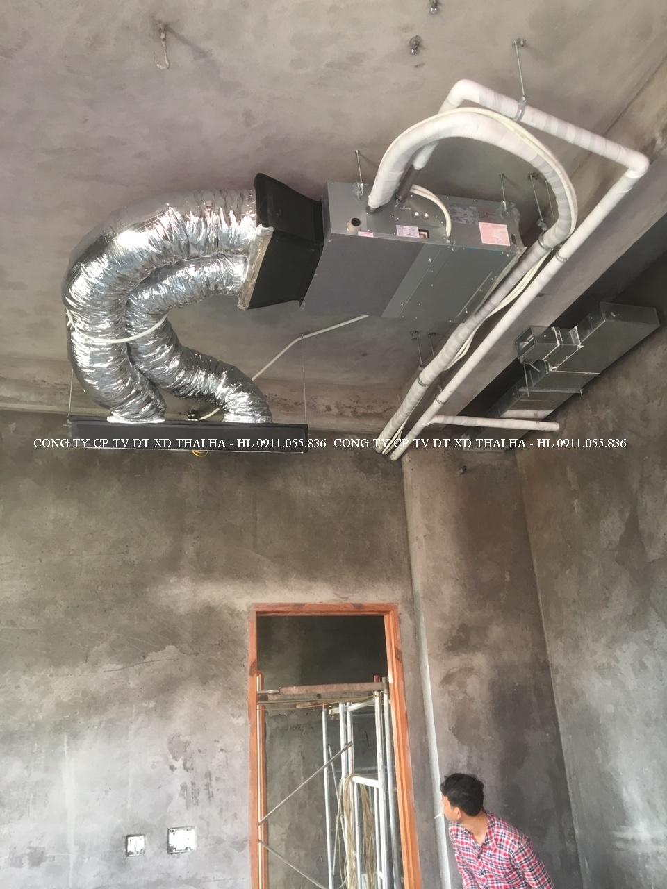 Dàn lạnh âm trần nối ống gió phòng ngủ
